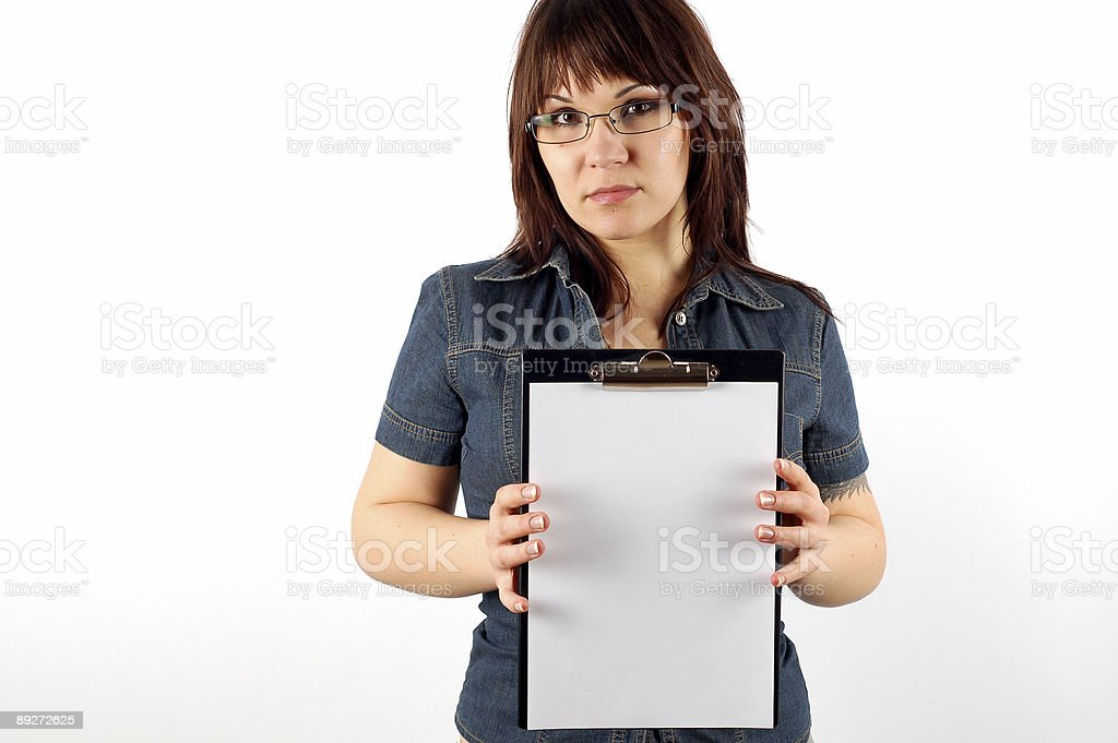 holding clipboard #5 royalty-free stock photo