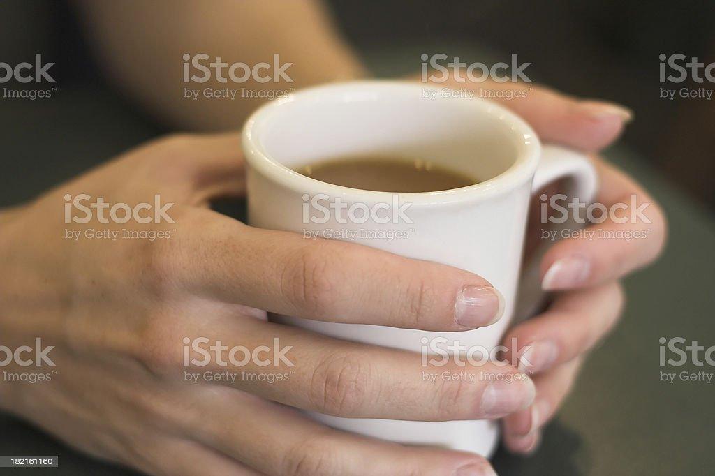 Holding Coffee Mug royalty-free stock photo