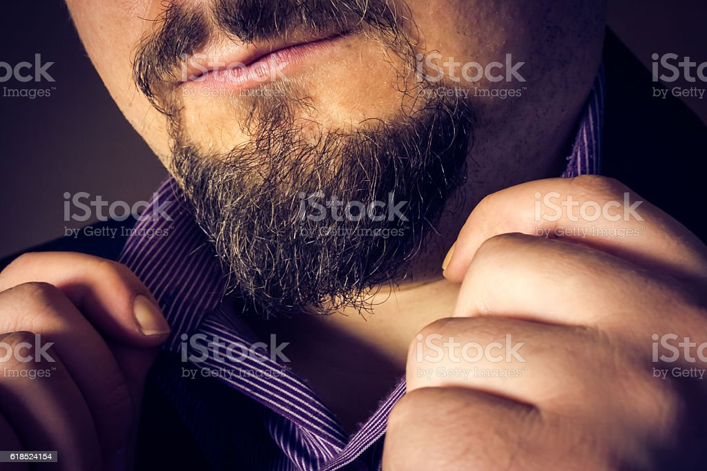 Holding collar stock photo