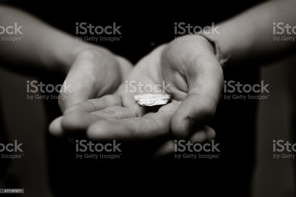 Holding Communion royalty-free stock photo
