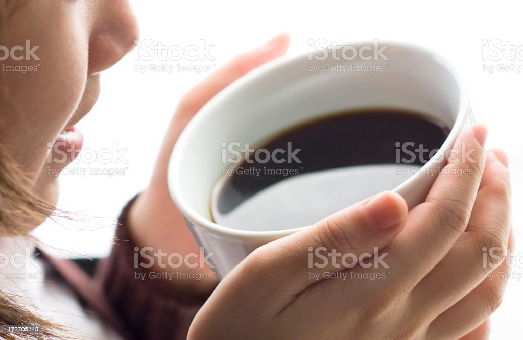 Holding Cup of Coffee royalty-free stock photo
