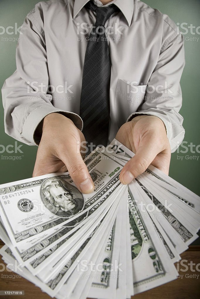 Holding Dollar royalty-free stock photo