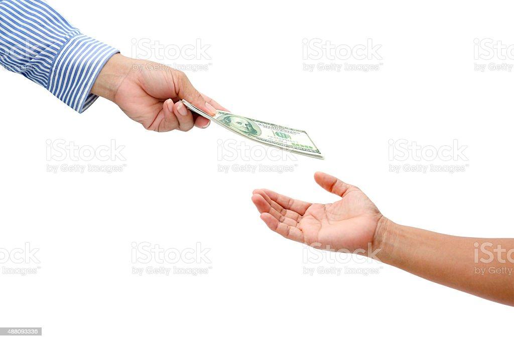 holding dollar stock photo