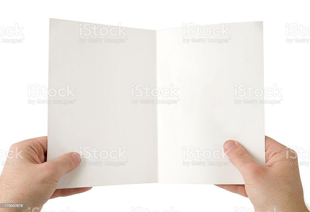 Holding folder stock photo