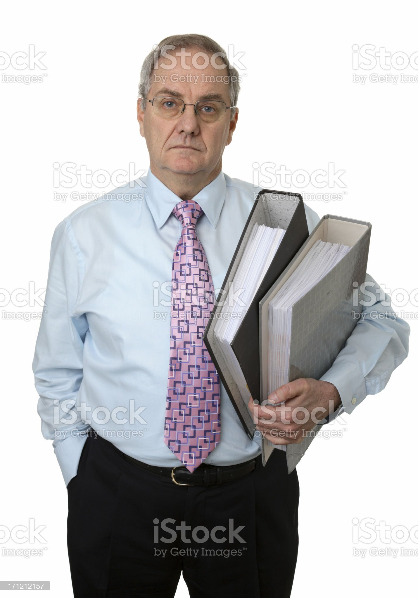 Holding Folders royalty-free stock photo