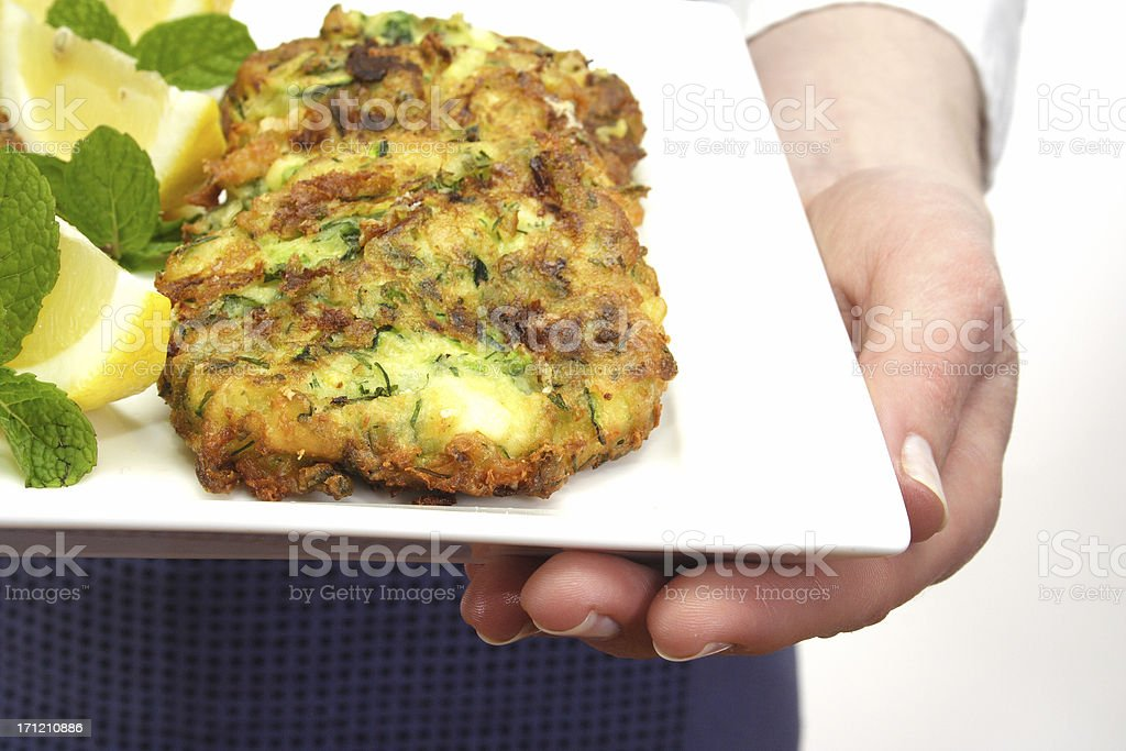 holding fresh food royalty-free stock photo