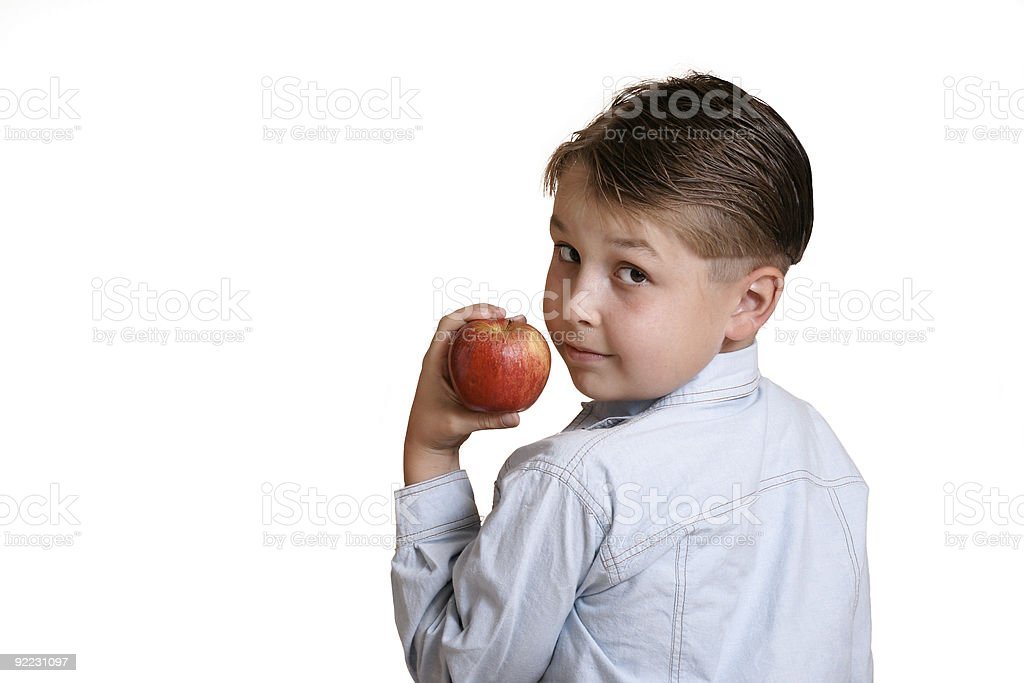 Holding fruit royalty-free stock photo