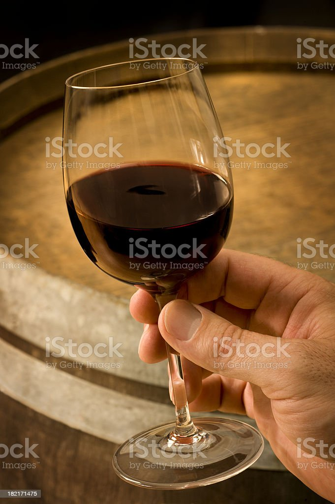 Holding Glass of Wine royalty-free stock photo