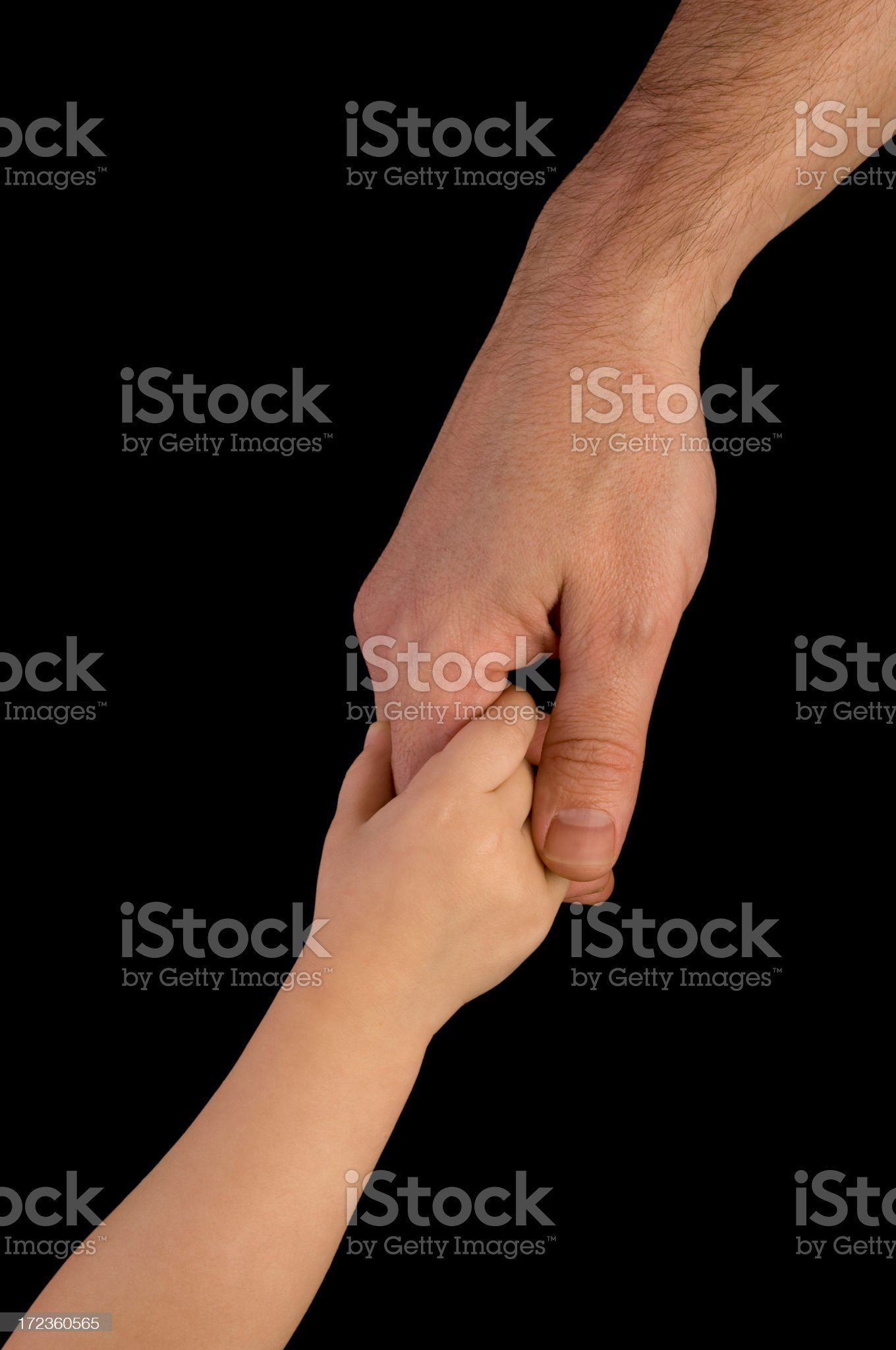 Holding hand w/Clipping Path royalty-free stock photo