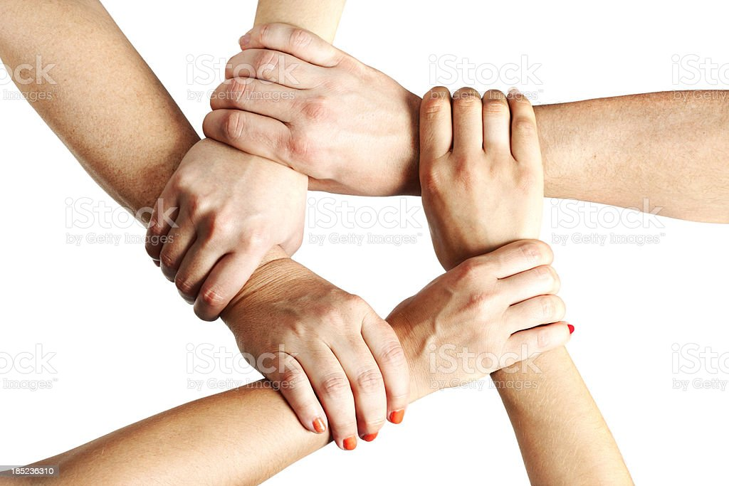 Holding Hands in Unity royalty-free stock photo