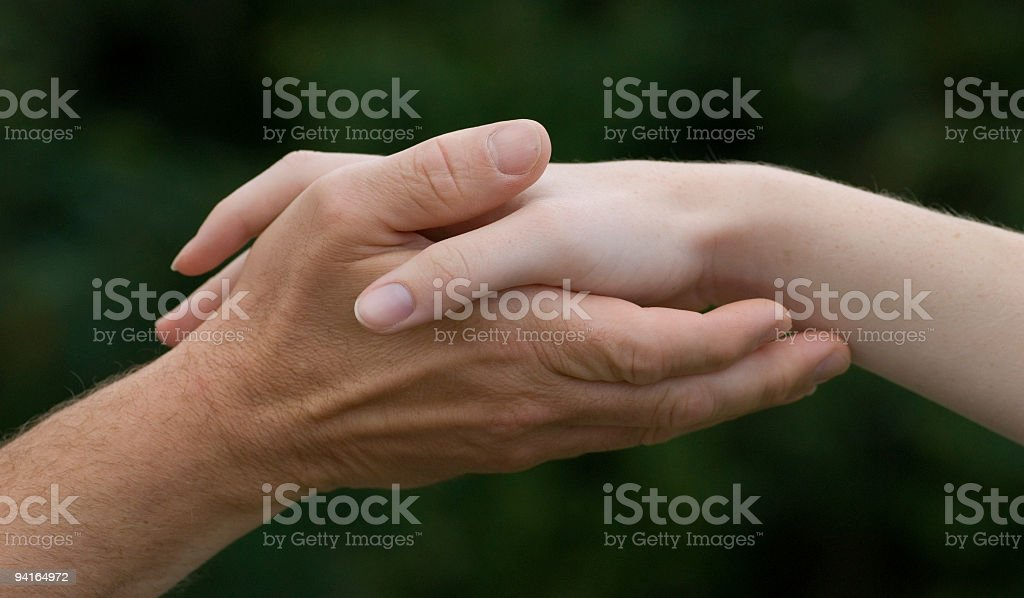 Holding Hands royalty-free stock photo