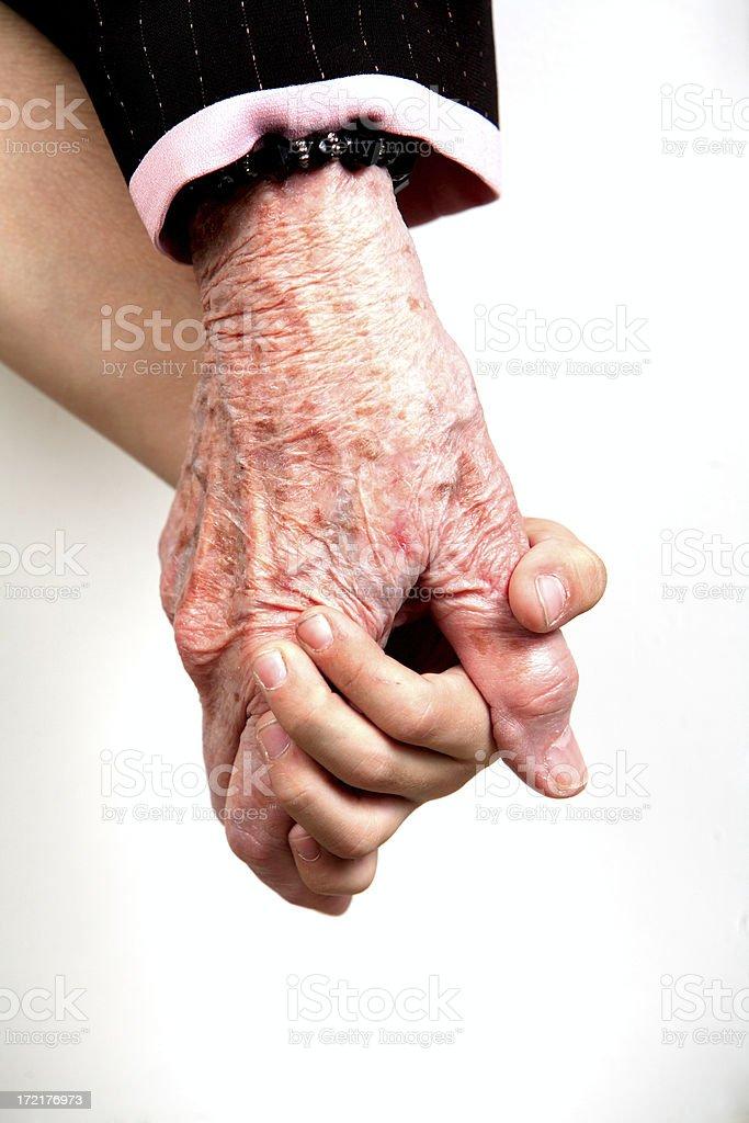 holding mani attraverso le generazioni foto stock royalty-free