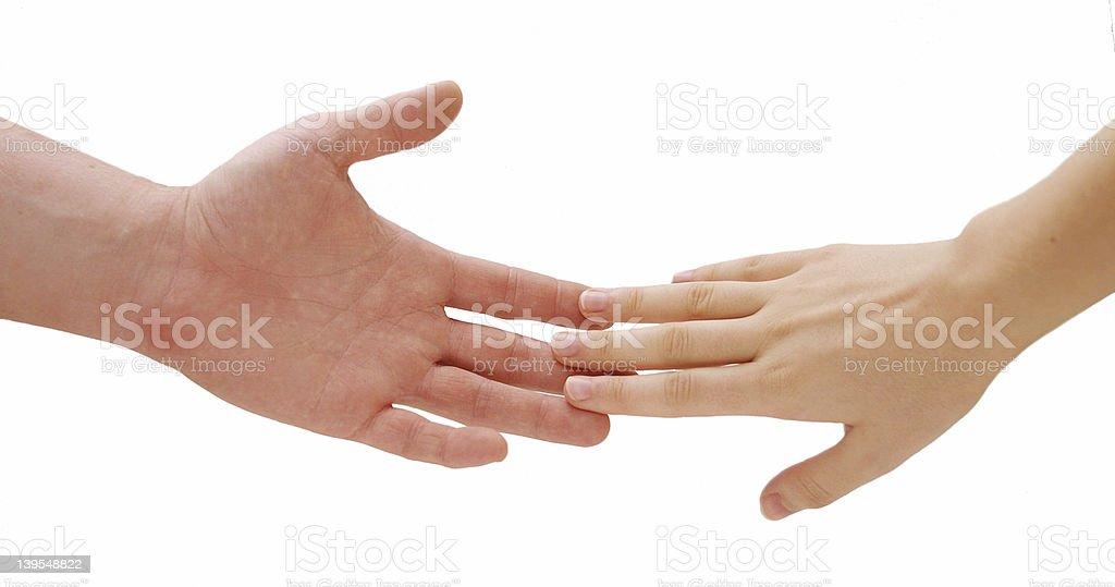 holding hands v2 royalty-free stock photo