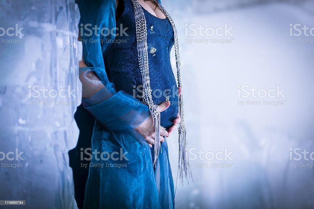 holding her abdomen royalty-free stock photo