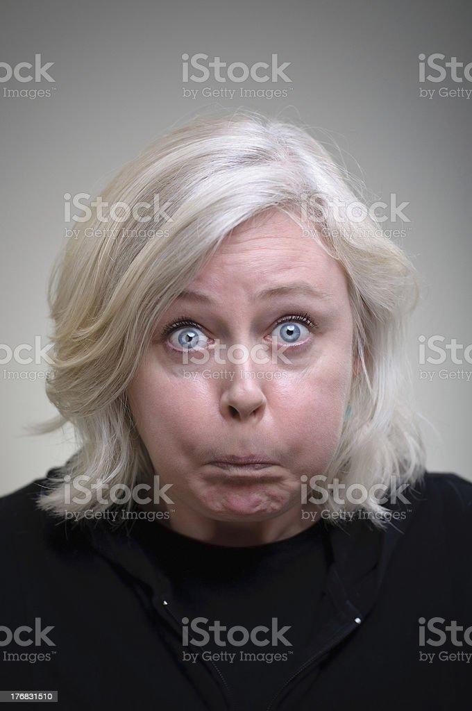 Holding Her Breath Portrait stock photo