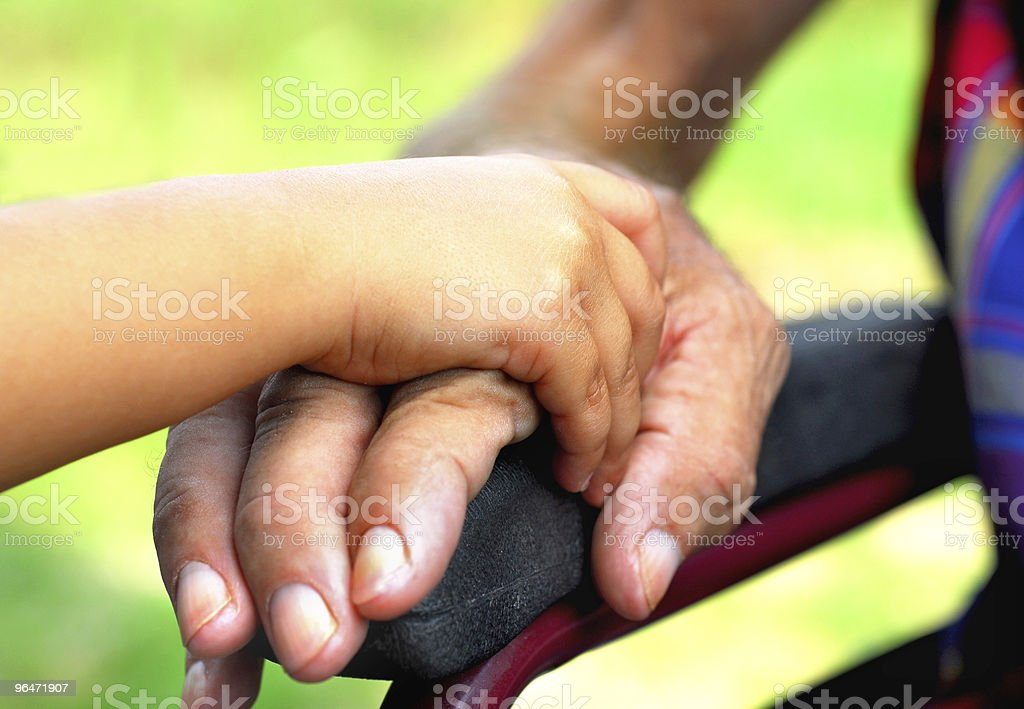 Holding his hand royalty-free stock photo