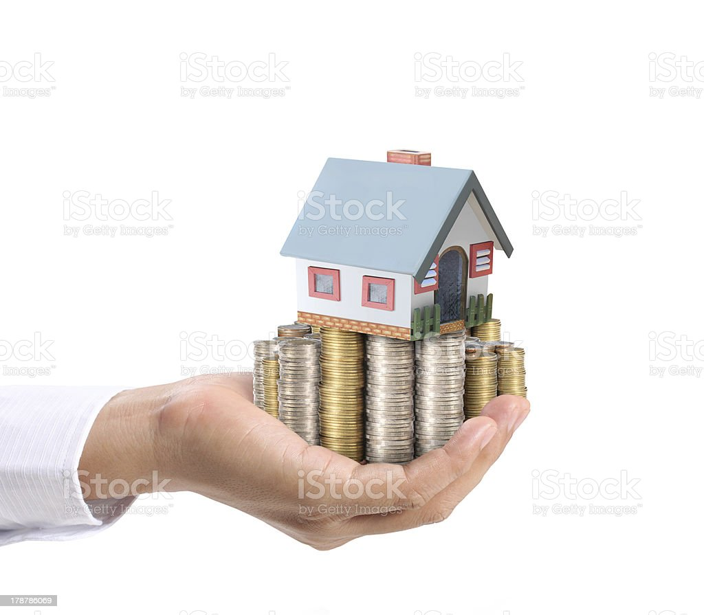 holding house royalty-free stock photo