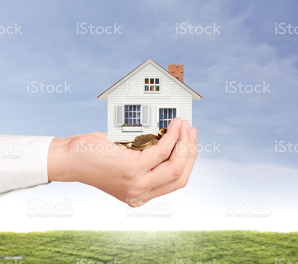 holding house representing home royalty-free stock photo