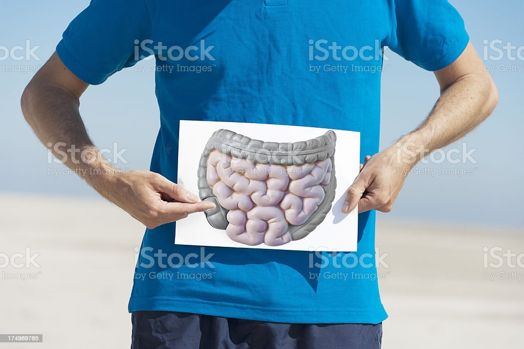 Holding image of gut stock photo