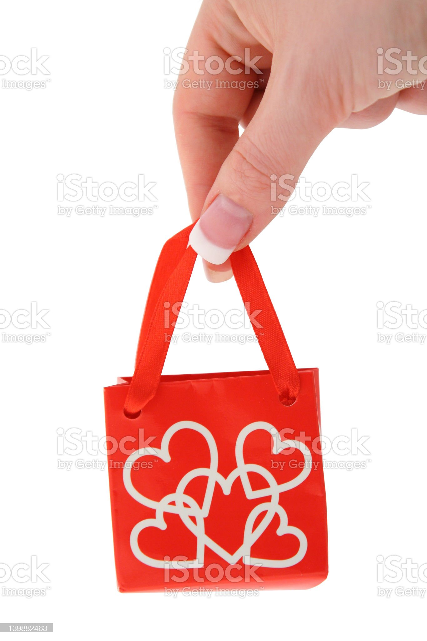 holding love gift bag #2 royalty-free stock photo