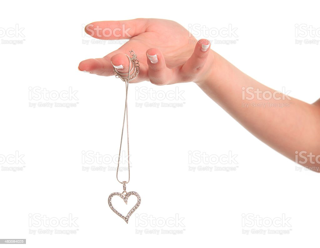 Holding Love in Hand stock photo