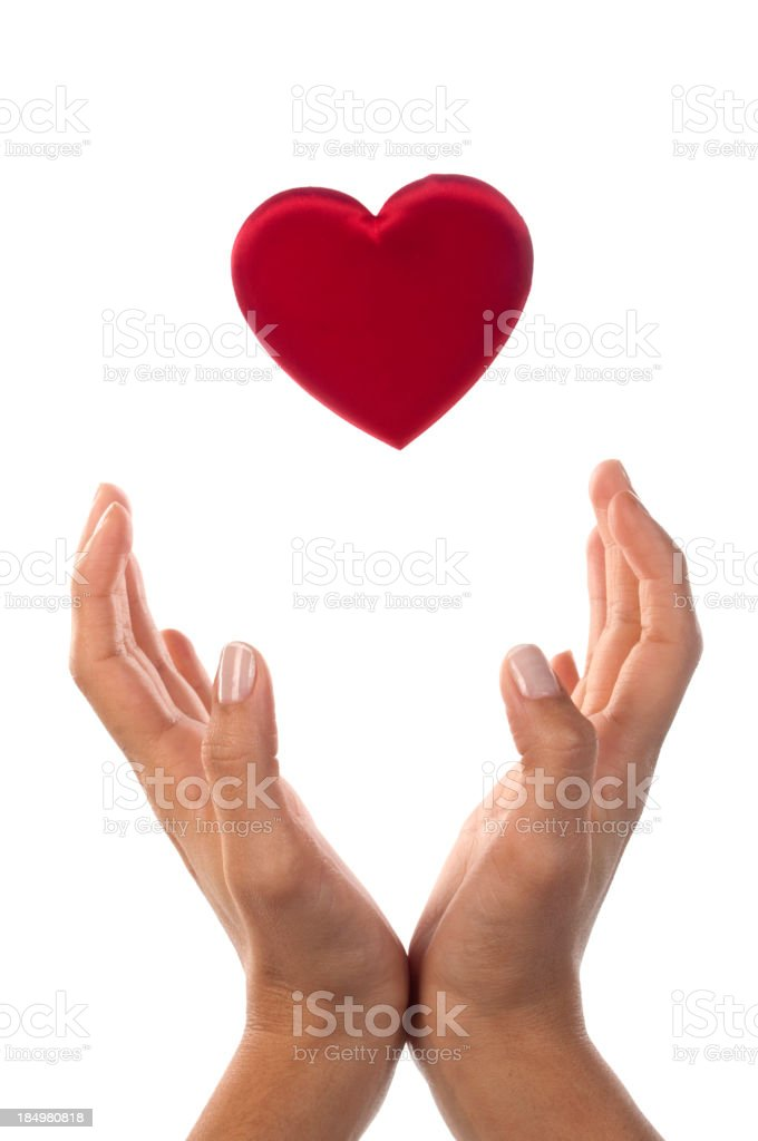 Holding Love royalty-free stock photo