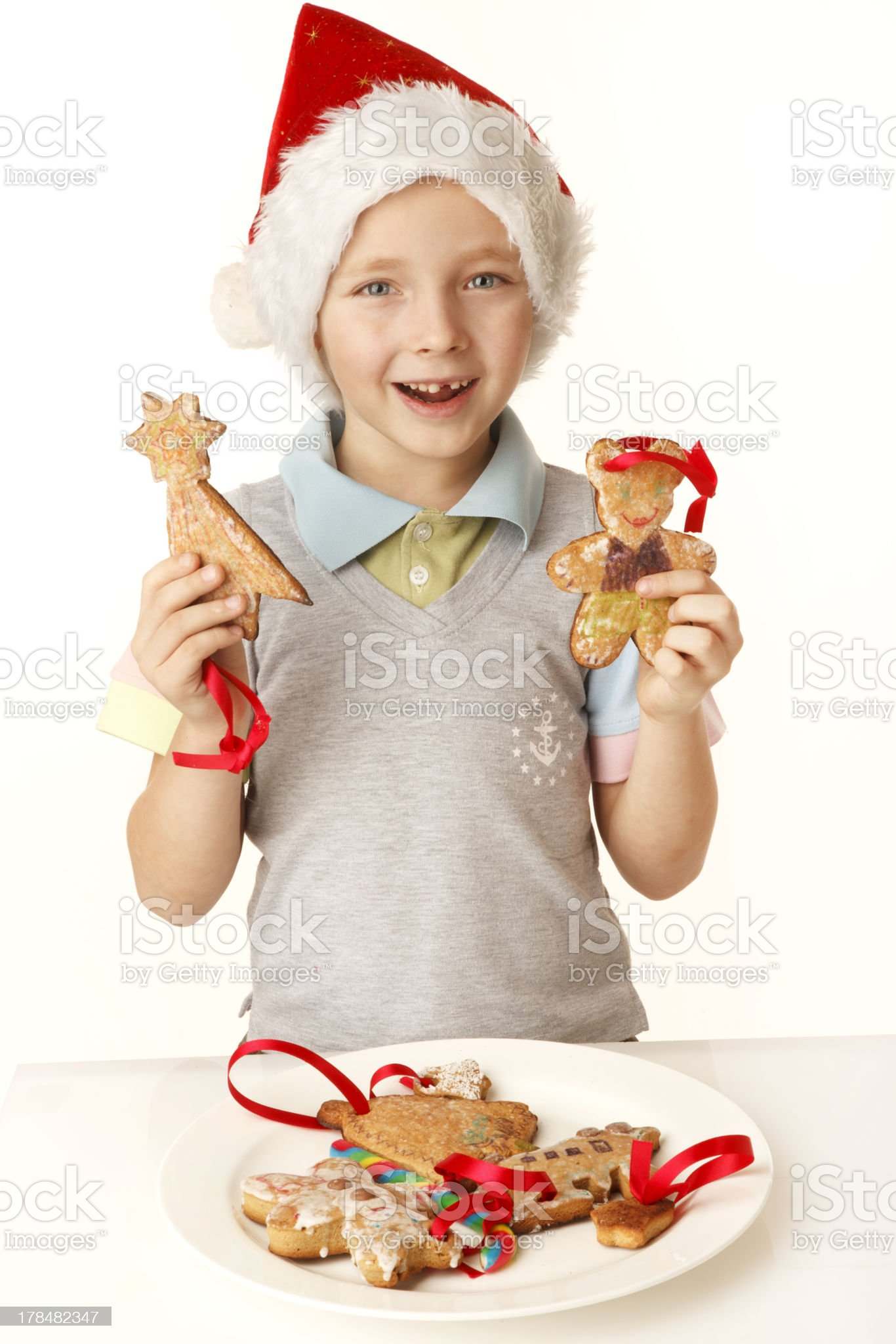 Holding macaroons royalty-free stock photo