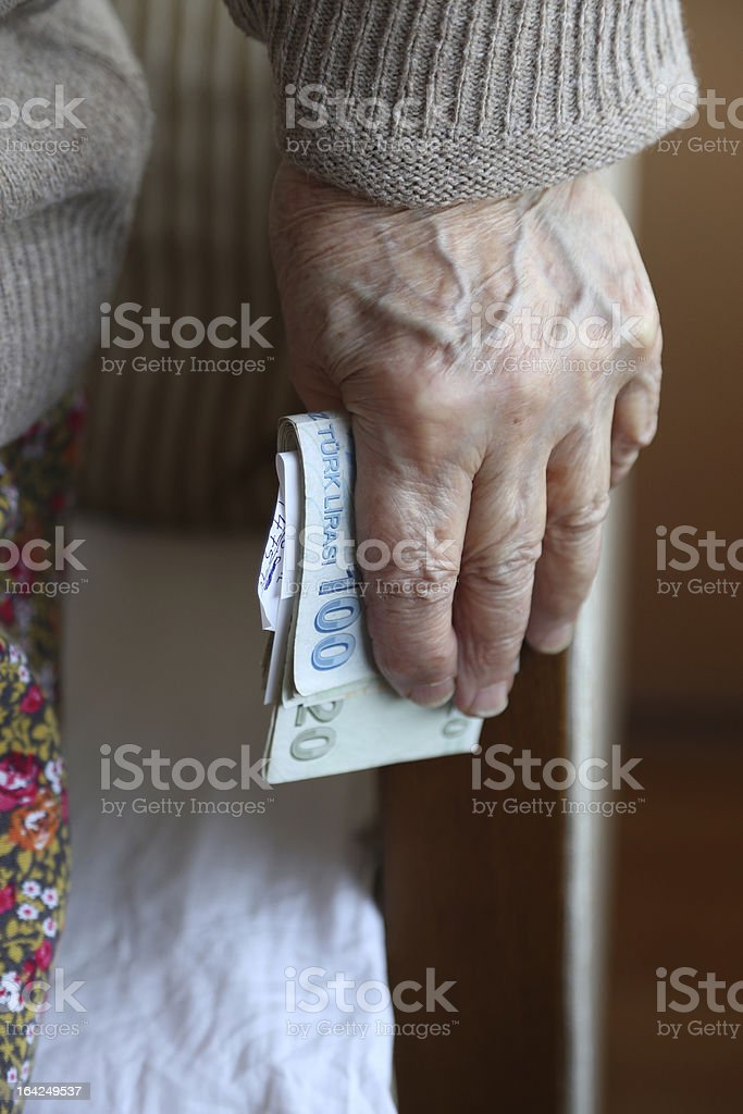 holding money royalty-free stock photo