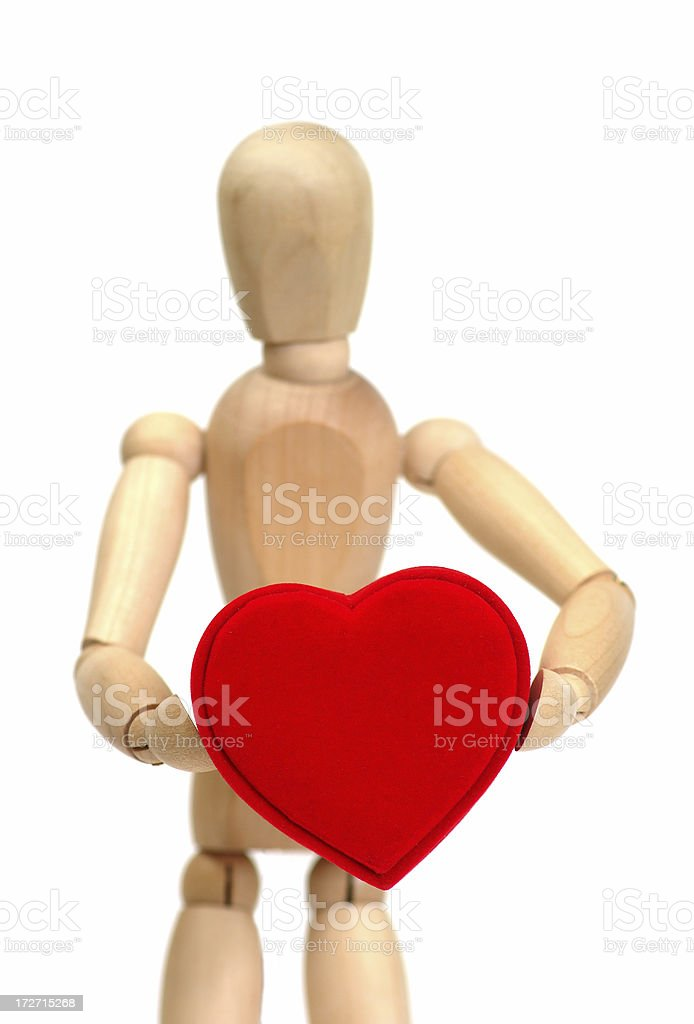 holding my heart royalty-free stock photo