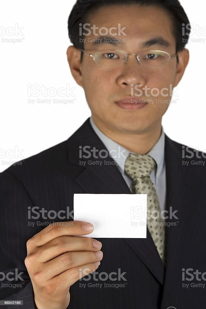 Holding Name Card royalty-free stock photo