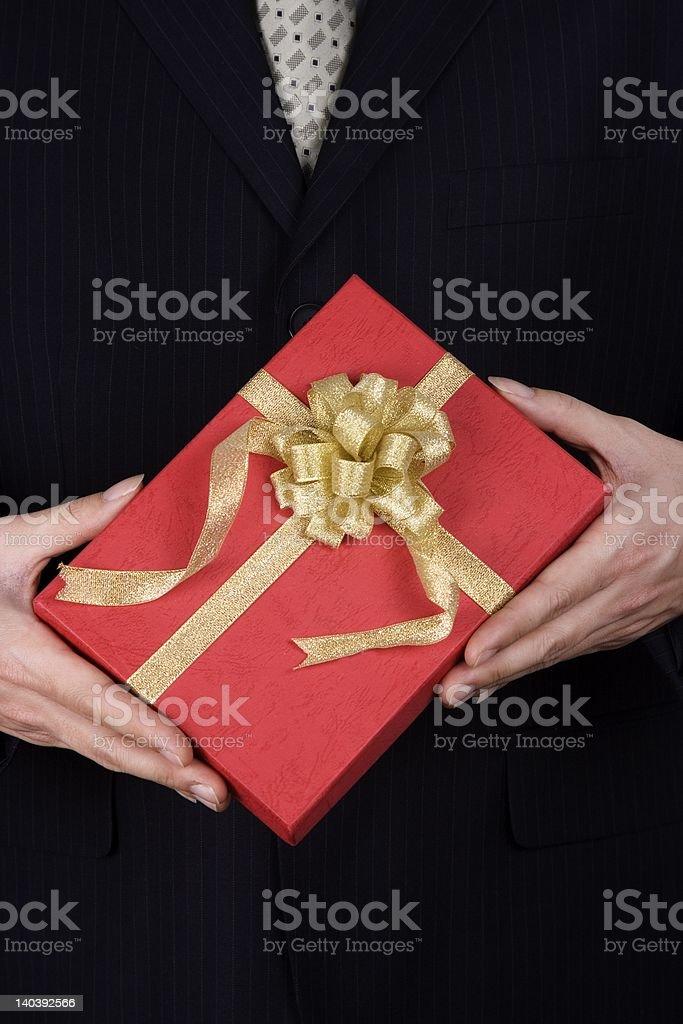 Holding Present stock photo