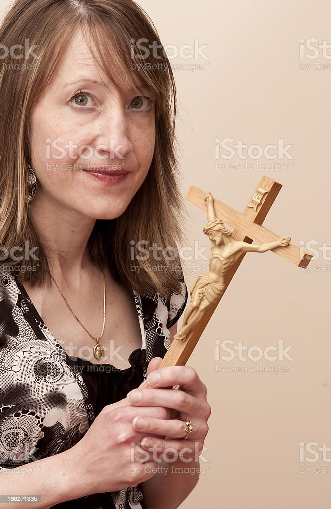Holding Salvation in your hands royalty-free stock photo