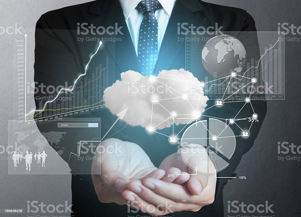 holding social network structure stock photo
