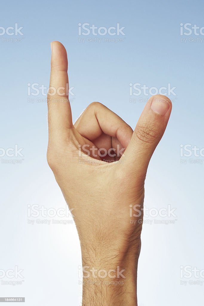 Holding something in hand. royalty-free stock photo