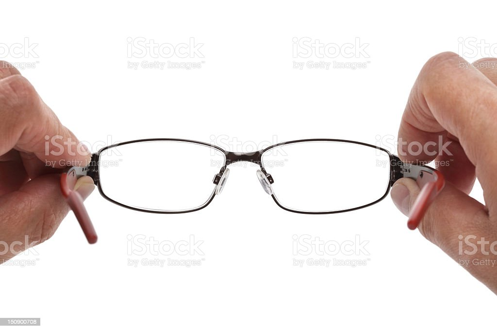 Holding spectacles royalty-free stock photo