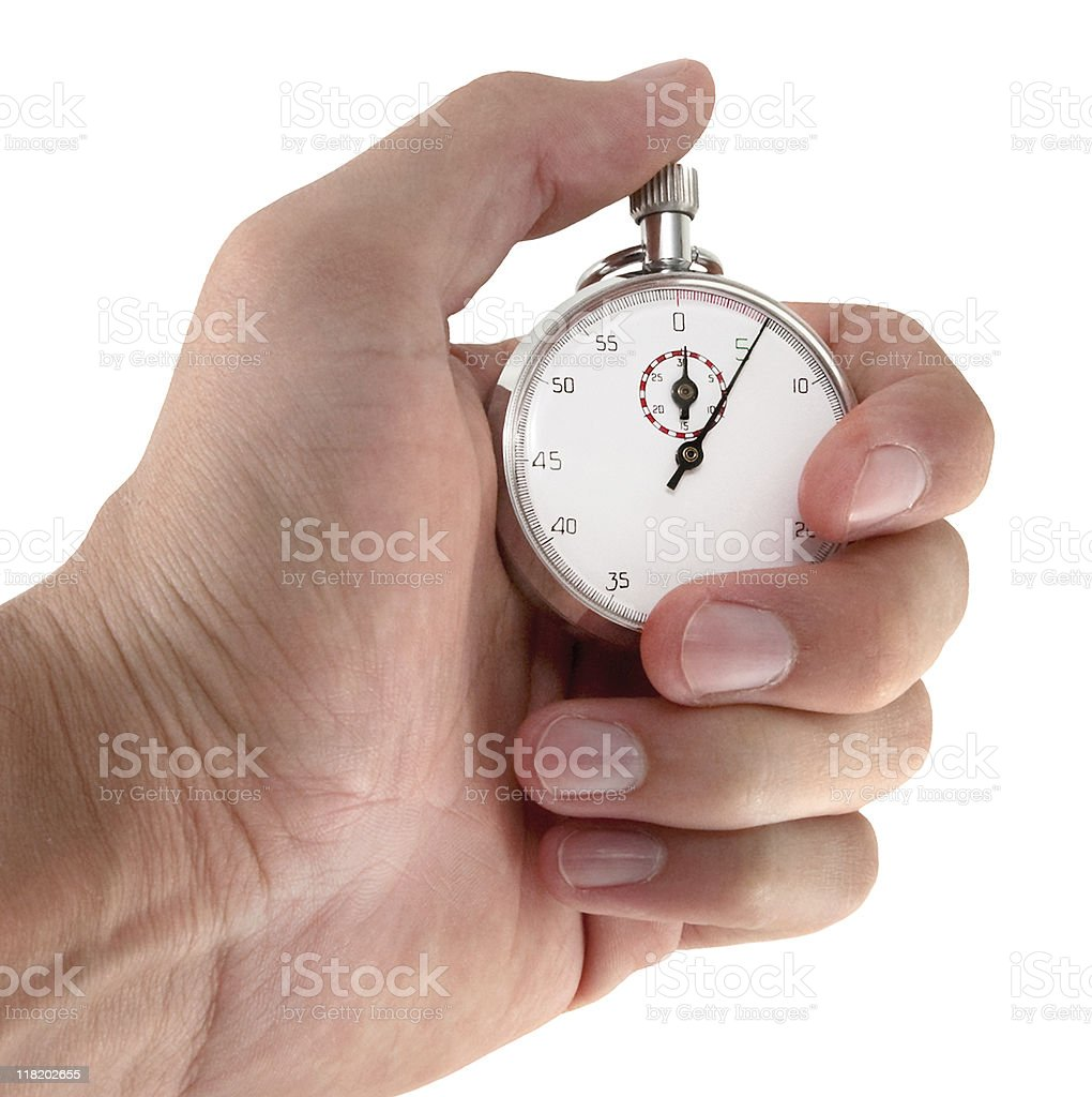 Holding Stopwatch Angled royalty-free stock photo