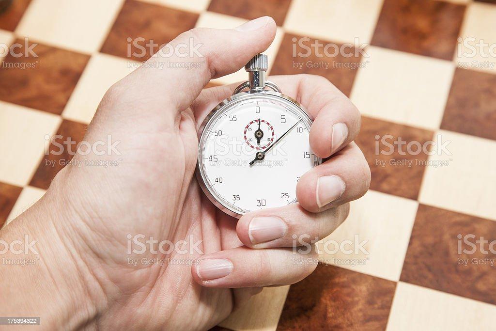 Holding Stopwatch royalty-free stock photo