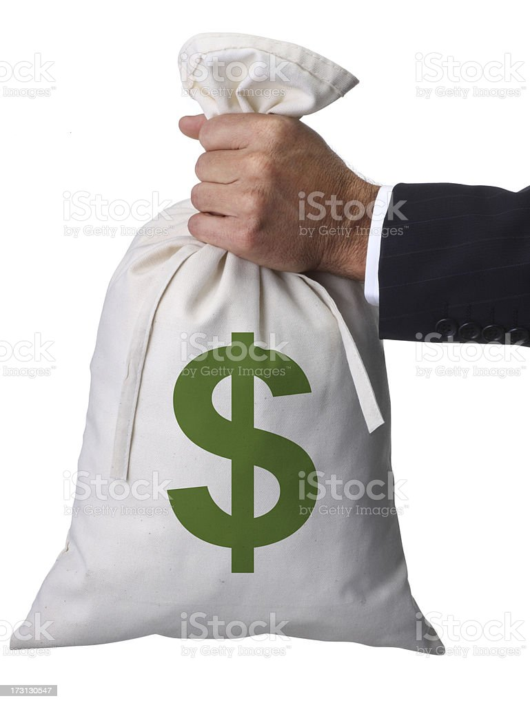 Holding the Bag stock photo