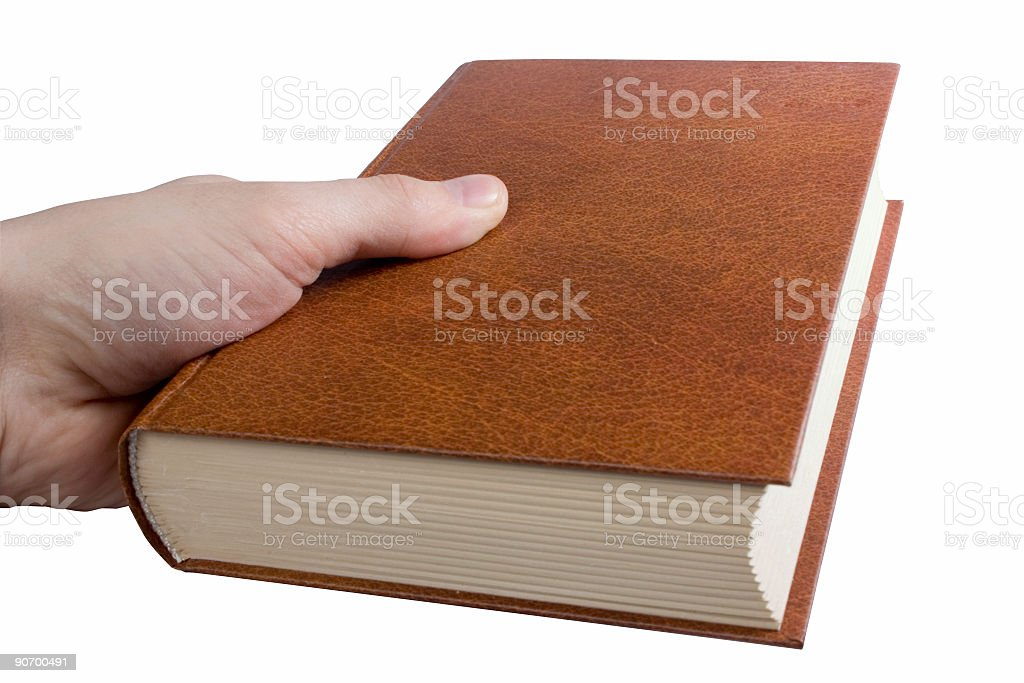 holding the book royalty-free stock photo