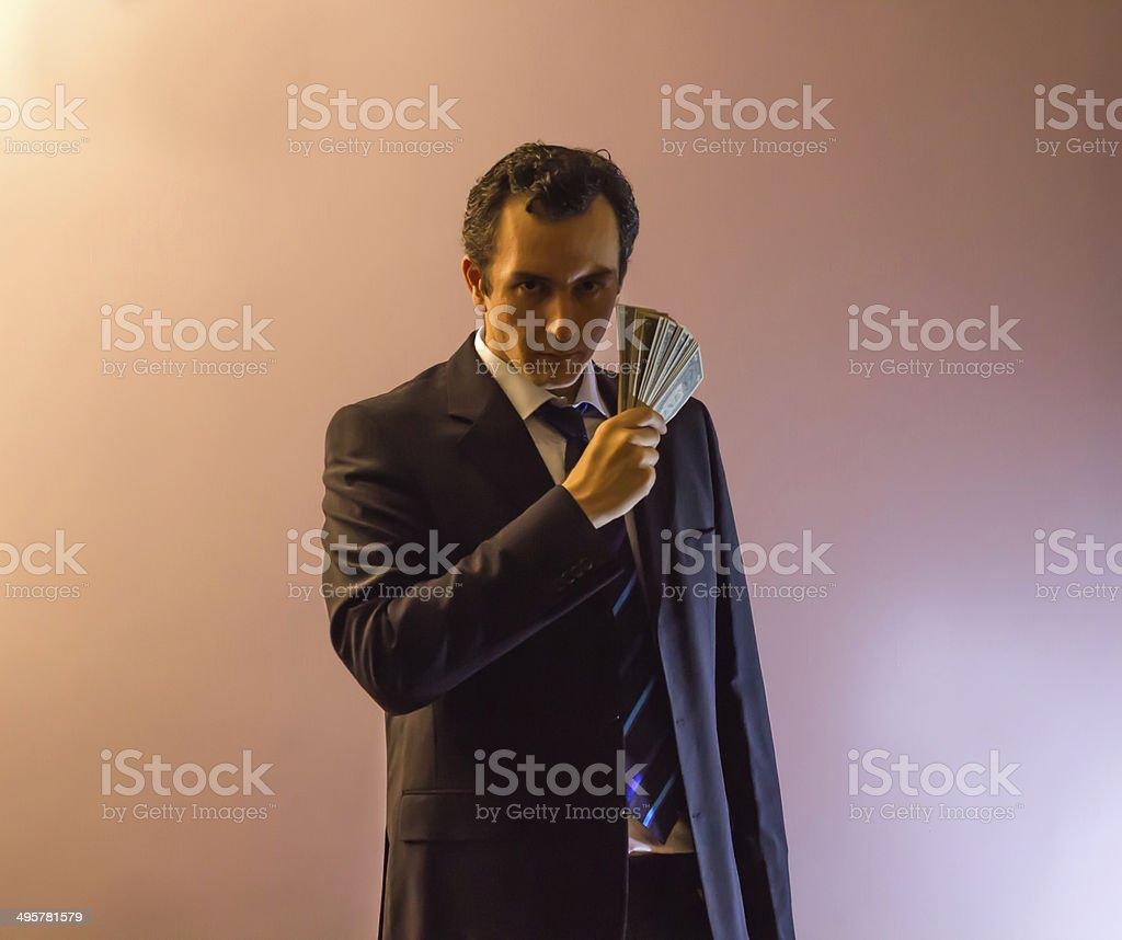 Holding The Dollars stock photo