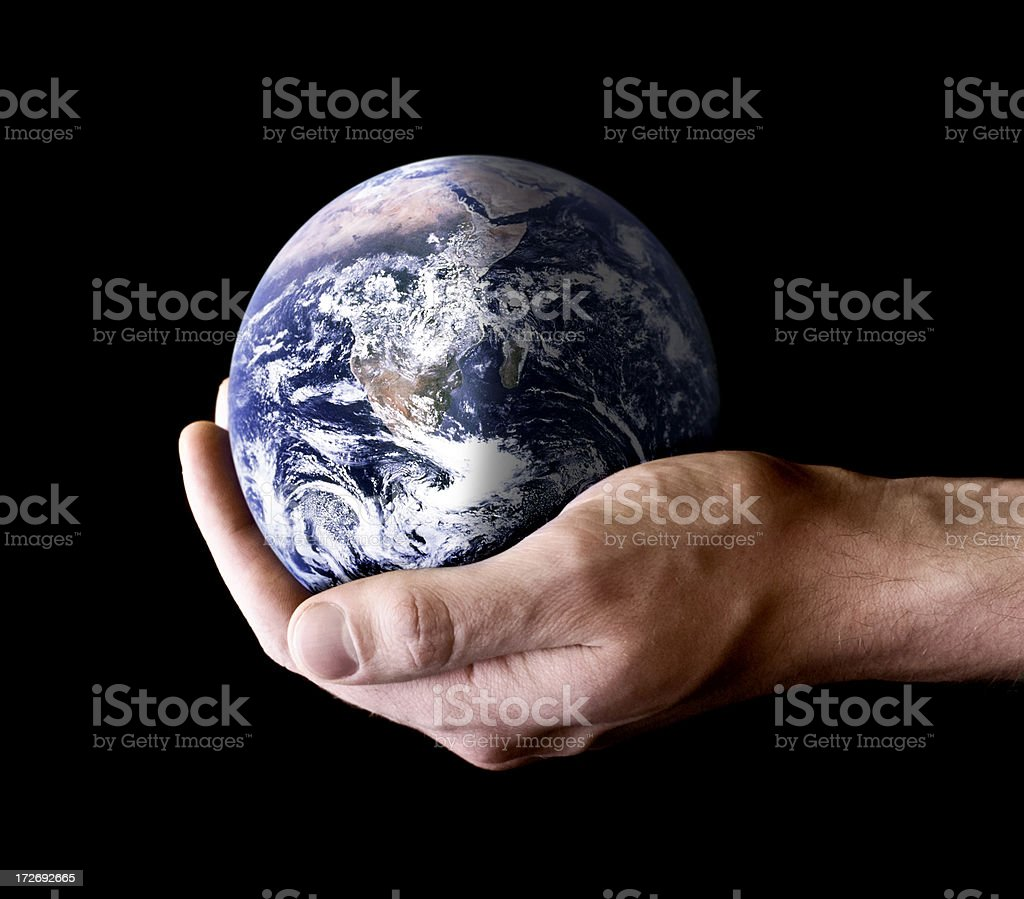 Holding the Earth royalty-free stock photo