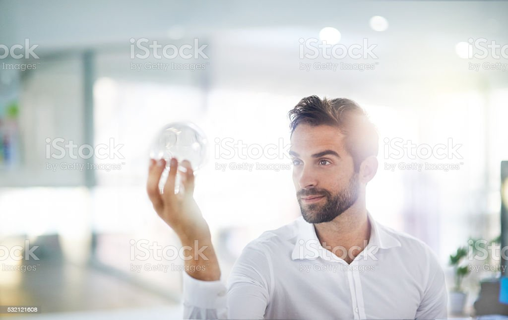 Holding the future stock photo