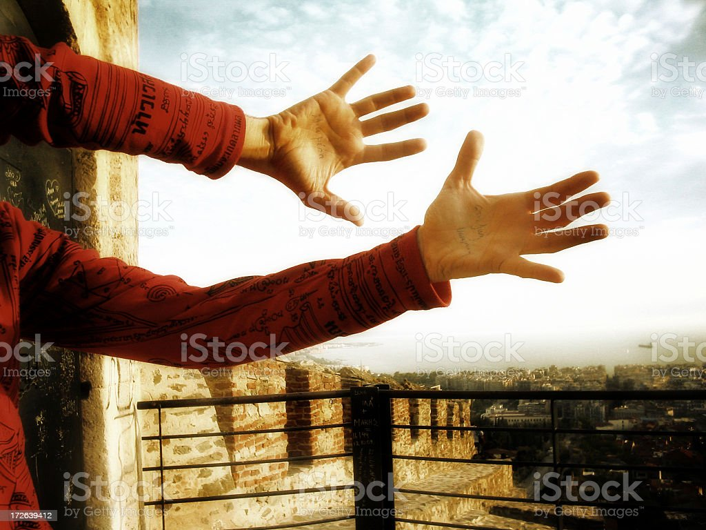 Holding the invisible royalty-free stock photo