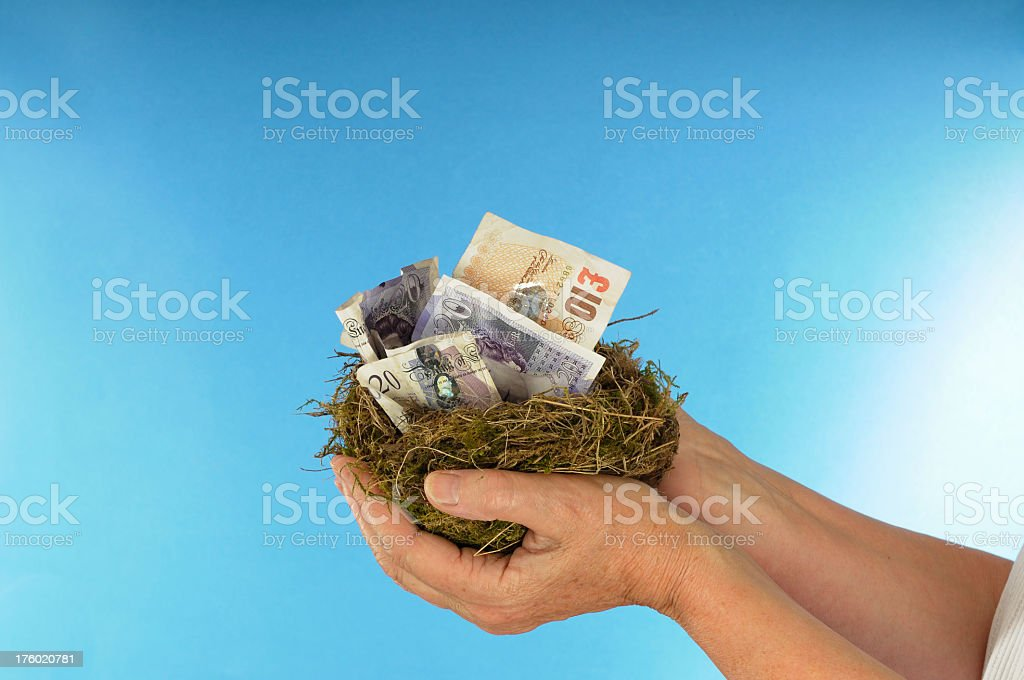 Holding the Nest Egg royalty-free stock photo