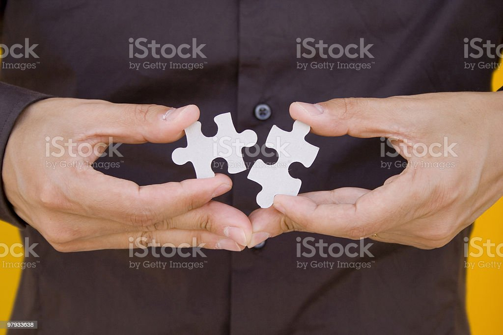 Holding the solution royalty-free stock photo