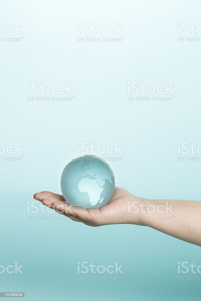 Holding the world in your hand royalty-free stock photo