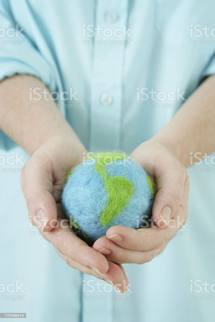 Holding the World in your Hands royalty-free stock photo
