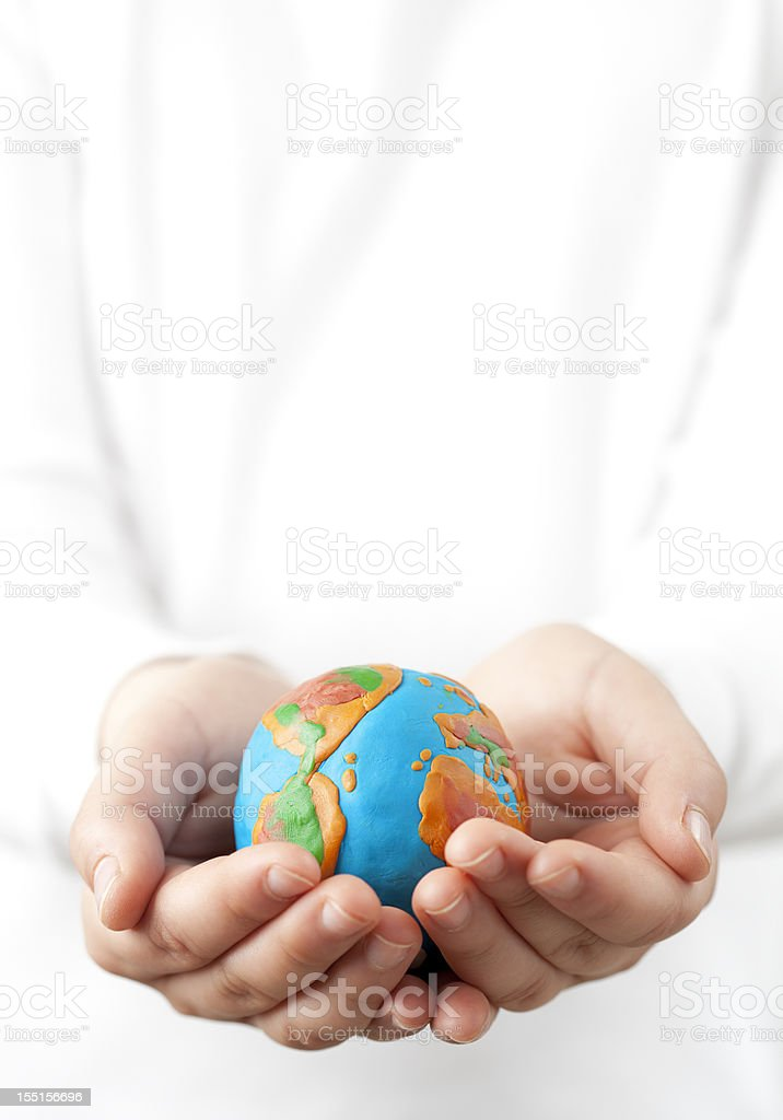 Holding the world. royalty-free stock photo