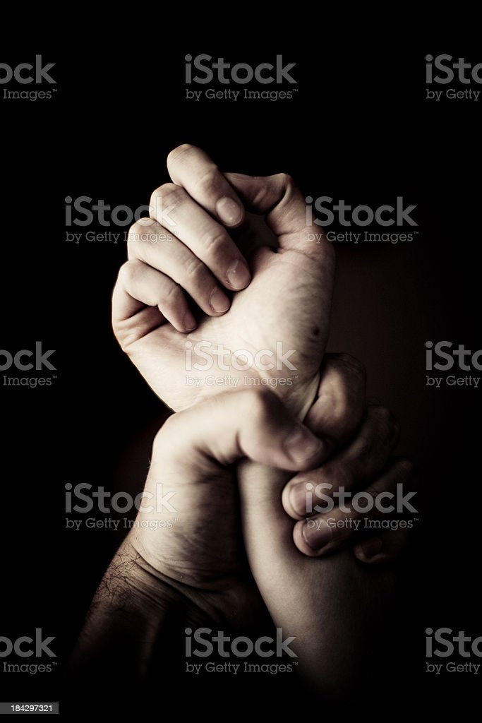Holding Tight royalty-free stock photo