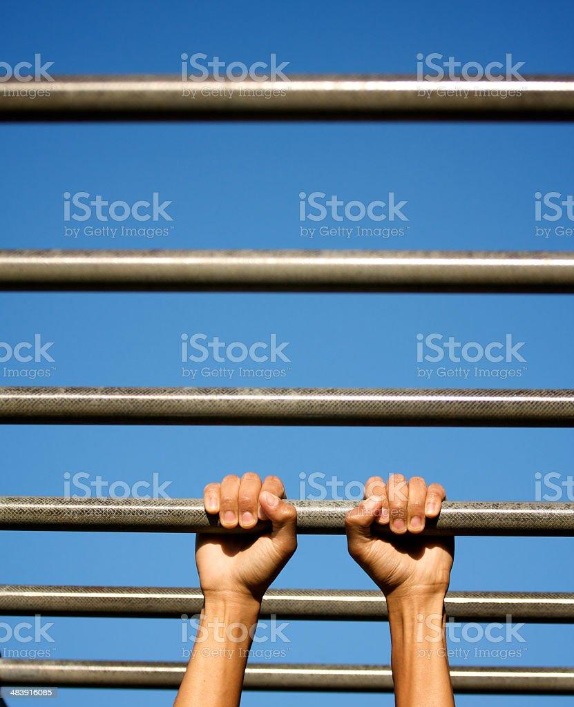holding tight royalty-free stock photo